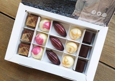 box of chocolates from chocolatiers Chocolates of Glenshiel