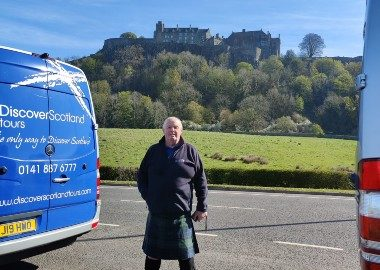 Tour Leader Cliff nearby to Stirling Castle