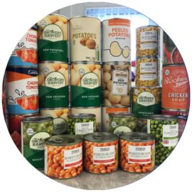 Tinned Potatoes & Vegetables for Renfrewshire Foodbank