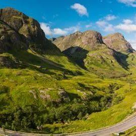 Glencoe during summertime in Scotland
