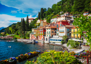 Lake Como where our Tour Leader Cliff had one of his favourite holidays