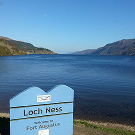 Loch Ness Sign at Fort Augustus