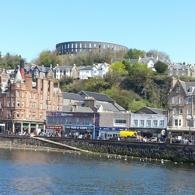 Oban from the water.
